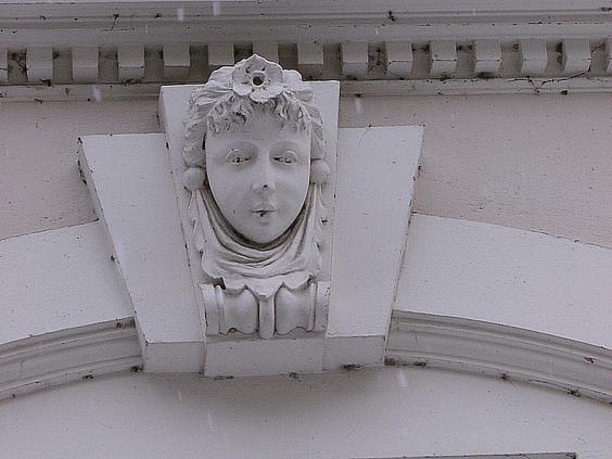 Thoughts-Dreams Sculptures Over Gert's Windows in Zittau